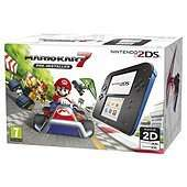 Nintendo 2DS  HW Black + Blue + Mario Kart 7 @ Tesco direct with free click collect + 1.5% quidco + Clubcard points