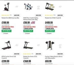more than 50% Great Savings from Argos on Reebok Fitness Equipment