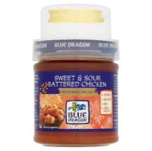 Blue Dragon sweet and sour battered chicken/lemon chicken sauce. £1 from Asda