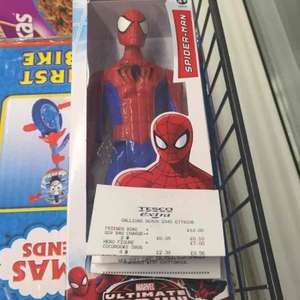 "Marvel Titan Series Spider-Man 12"" Figure £15 down to £11 but scanned at £7 in store @ Tesco"