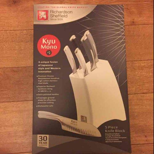 Richardson Sheffield Kyu mono 5 knife set and block £22.50 @ Tesco