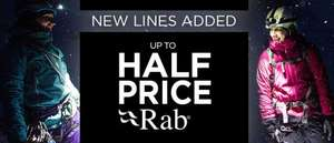 Half price Rab clothing (new lines added) @ GoOutdoors