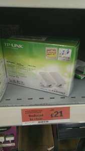 TP link 500mbs wifi booster powerline adapter £21 sainsburys instore