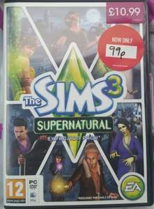 The Sims 3 Supernatural/Pets Expansion Packs PC (Physical) 99p @ Game