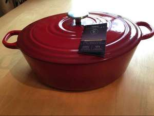 4.7L Cast iron casserole dish £11 @ Sainsburys