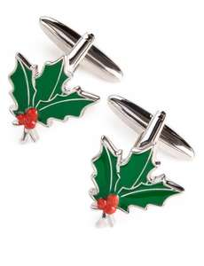 Christmas Holly or Stag/Reindeer Cufflinks reduced to £3.99 @ Marks & Spencer