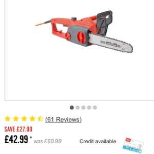 Sovereign SCS718A Corded Chainsaw £43.99 @ Argos