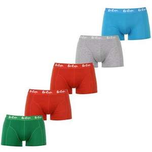 Lee Cooper 5 Pack Boxer Shorts Mens £7 + £4.99 @ sportsdirect