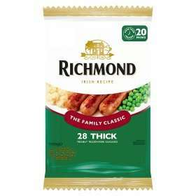 Richmond 28 Thick pork Sausages 1268g £3.50 or 3 for £8 at Tesco