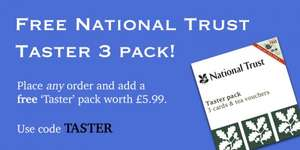 National Trust cards, lots of free pots of tea for 2 at National Trust properties! With discount £9.99 @ Pink & Green