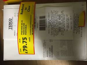 iPad Mini 3 - 16GB WiFi Any store with remaining stock should have them at a reduced price £79.95 instore at Tesco