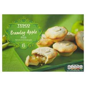 Tesco British Bramley Apple Pies 6 Pack ONLY £1.00 @ Tesco