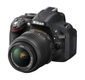 Black Nikon D5200 Digital SLR with 18-55 VR II Lens £299 @ Tesco