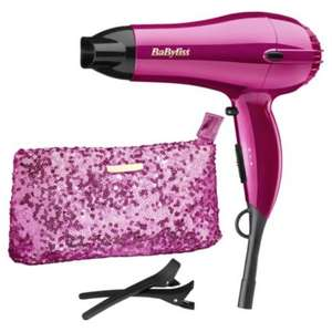 BaByliss 5248AGU Limited Edition Gift Set 2000W Hairdryer, Sequin Pouch, Sectioning Clips £9.50 Free Delivery To Store Or £3 Delivery @ Tesco Direct