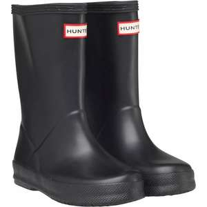 Hunter Infant First Classic Wellingtons Black Size 4 or 5 - £14.48 delivered (£9.99 + £4.49 delivery) @ M&M direct