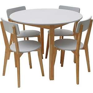Hygena Rye Black or White Dining Table and 4 Chairs £62.99 / £69.99 @ Argos (Free Click & Collect or Same Day deliery £3.95)