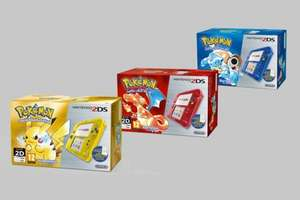 Nintendo 2DS Pokemon Special Edition Preorder + Case + Pokemon Red, Blue or Yellow + Stickers + Mario Calendar - £79.99 delivered @ Nintendo Store (+ 2% Quidco)