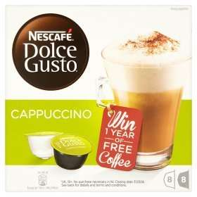 Nescafe Dolce Gusto and Tassimo coffee pods - 2 for £7 @ ASDA