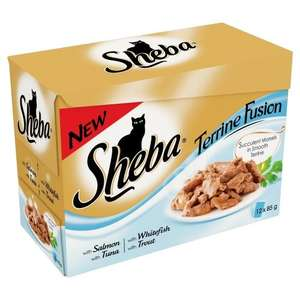 Sheba Cat Food Pouches Fish Selection in Terrine 12x85g (Pack of 4, Total 48 Pouches) £10  (Prime) / £14.75 (non Prime) @ Amazon