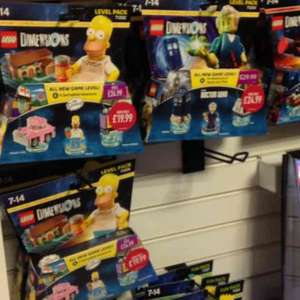 Lego Dimensions Dr Who Level Pack £24.99 & Simpsons Level Pack £19.99 @ Game instore