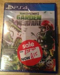 Plants Vs Zombies Garden Warfare on PS4 £15 instore at Asda