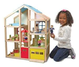 Melissa & Doug Wooden Hi Rise Dollhouse £38.06 (was £99.99) @ Amazon
