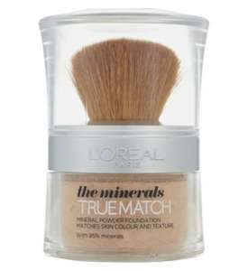 LOreal true match minerals foundation 2 for £12 now at boots.com, RRP £14.99 Free C&C