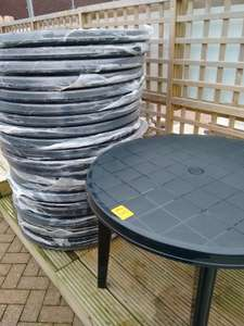 Garden tables reduced to £3 at Homebase in Huntingdon