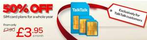 Talktalk Existing Customer Sim Only technically earns you money!!!