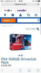 PS4 500GB Drive Club Bundle Edition - £149.99  @ toysrus (C&C only now)