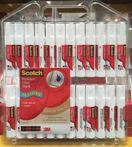 3M Scotch Permanent Glue Sticks 8g x24 Pack - Costco £4.79 incl VAT