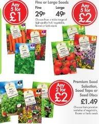 LIDL Seeds - Fruit, Vegetable, Flower or Herbs - Multi buy - 20p - 40p - £1 per pkt - 8th Feb