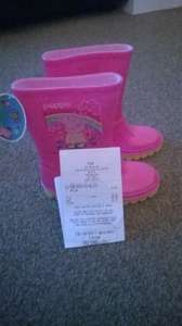Peppa Pig Wellies size 8 at Argos