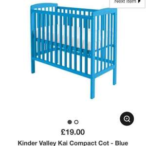 Compact Cot £19! (Blue or Pink) @ Asda George