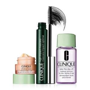 Clinique High Impact Favourites Gift Set £14.87 (mascara alone costs £17.50 ) and free delivery @ Feel Unique use promo code LASTCALL15