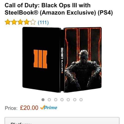 Call of Duty: Black Ops III with SteelBook® (Amazon Exclusive) (PS4) £20 @ Amazon
