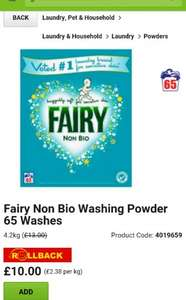 Fairy Non Bio 65 washes £10 @ Asda
