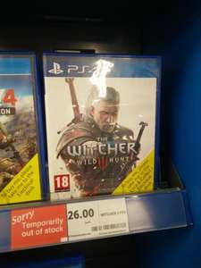 Witcher 3 PS4 £26 Tesco Liverpool Instore