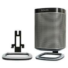 Flexson Black Desk Stand For Sonos Play 1 (Pair) - Speaker Stands - AudioVisual Online - 34.99