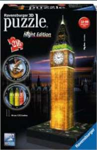 Ravensburger 3d puzzle big ben night edition was £24.99 now £6.25 @ tesco