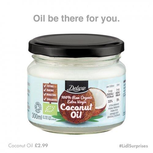 Lidl Coconut oil 300ml £2.99 this week