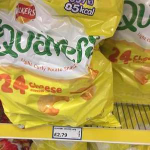24 bag pack of either Cheese Quavers / Cheese Wotsits or Monster Munch £2.79 @ Poundstretcher