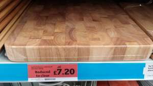 Rubberwood Butcher's Block was £16 now £7.20 @ Sainsbury's