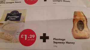 1kg Porridge Oats + 350g Squeeze Honey - £1.29 @ Netto (combo deal)