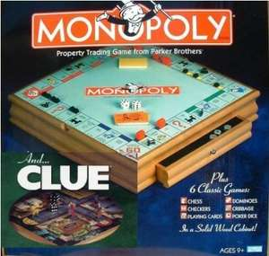 Wood Monopoly and Cluedo Compendium Board Game £35.90 @ Amazon