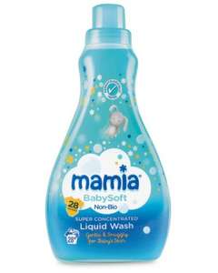Mamia Super Concentrated Liquid Babysoft Non-Bio 28 Wash, 980ml £1.99 (7.1p a wash) @ Aldi, Instore From 28th January