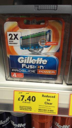 Gillette Fusion ProGlide Power Razor Blades 4 Pack £7.40 at Tesco