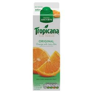 1 Litre Tropicana Orange Juice B.O.G.O.F. @ One Stop - 2 for £2.60