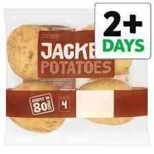 Tesco Jacket Potatoes 700G £0.50 (from 1st Feb)