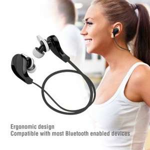 7dayshop -  Sport V4.0+EDR Bluetooth Wireless Sport Stereo Earbuds Headphones Headset with Mic - Funk Black £8.79 delivered